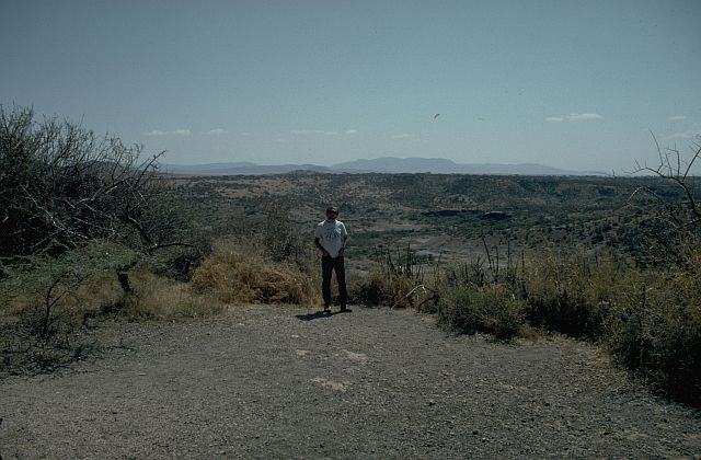 John at Olduvai Gorge